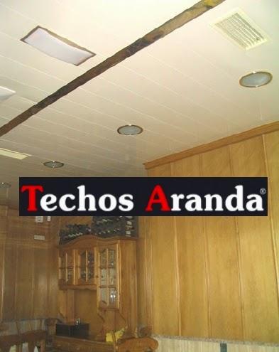 techos de madera blancos