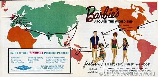 View-Master Barbies Around the World Trip (B500), Booklet Cover