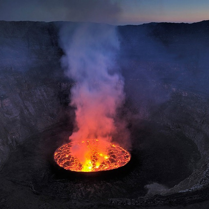 Lava Lake at Nyiragongo Volcano