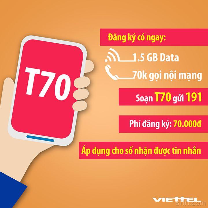 [THÔNG BÁO] Chương trình khuyến mại T70 dành cho thuê bao nhận