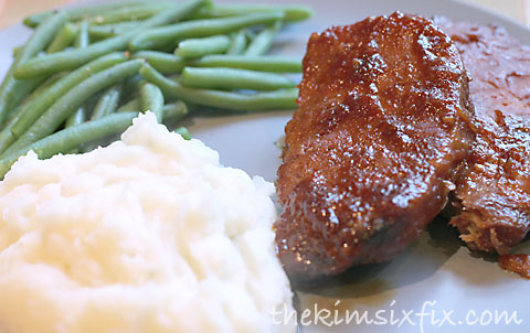 Asian glazed pork chops