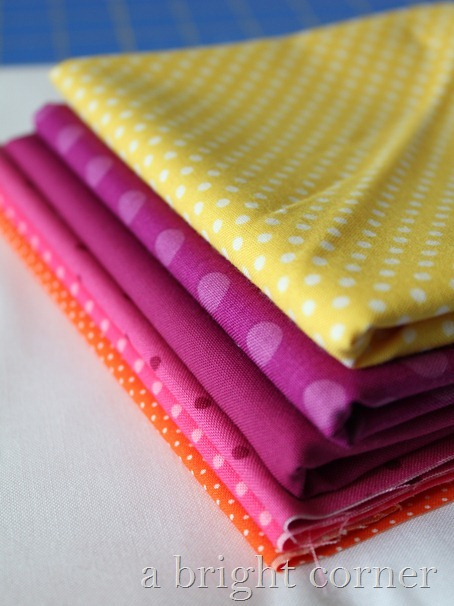 fabric stack bright dots