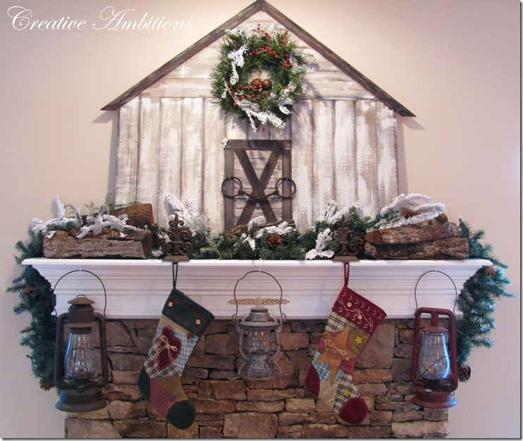 Christmas Barn Mantel 2
