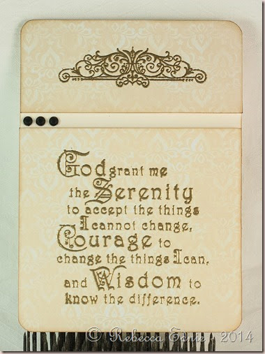 serenity prayer pocket card insert
