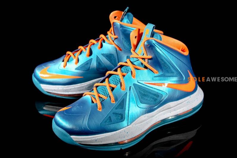 big sale cc053 a2f35 ... Nike LeBron X Grade School Turquoise 543564402 ...