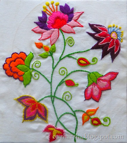 My Hobbies Flowers Hand Embroidery