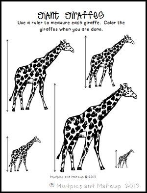 Mudpies and Make-up: Giraffe Preschool Printables