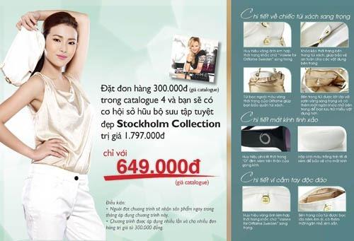 Oriflame 4-2012: Giảm giá 64% bộ sưu tập túi, ví & mắt kính Stockholm Trắng
