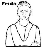 Frida Kahlo Retrato Para Colorear