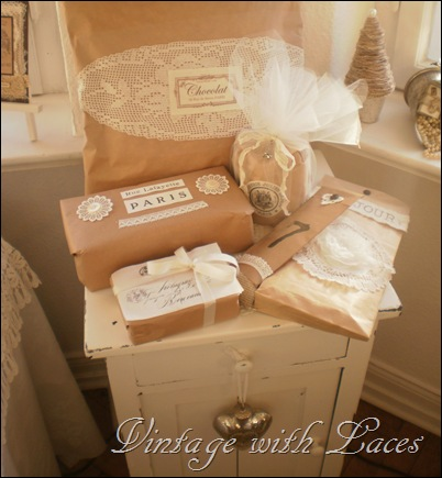 Gift Wrapping Ideas by Vintage with Laces