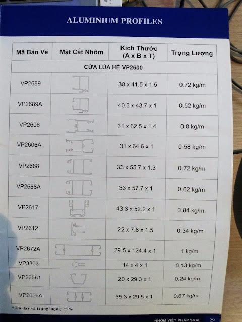Việt Pháp Aluminium profile -02