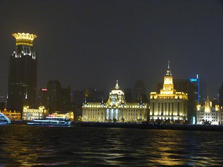 Obiective turistice Shanghai: Bund vazut din Pudong