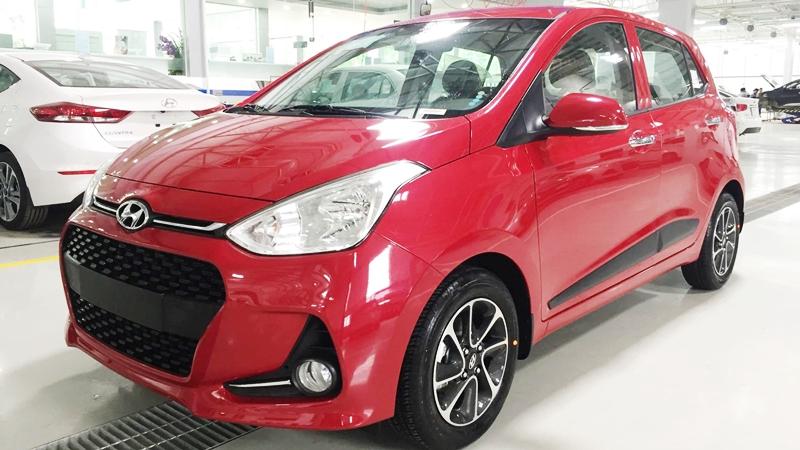 Xe Hyundai Grand i10 Hatchback 5 Cửa màu đỏ thế hệ mới 02