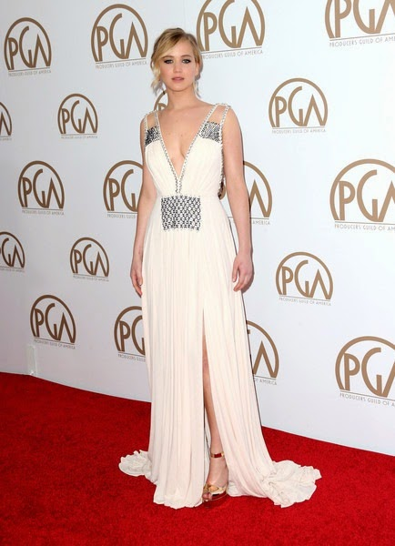Jennifer Lawrence attends the 26th Annual Producers Guild Of America Awards