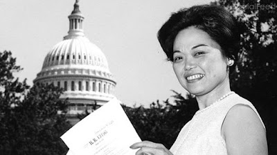 Hawai'i's own Patsy Takemoto Mink was the first woman of color elected