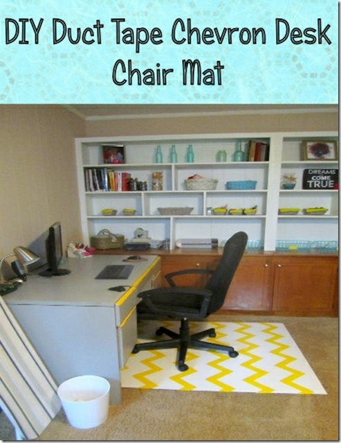 Chevron Chair Mat DIY