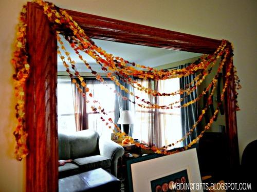 crocheted fall swag
