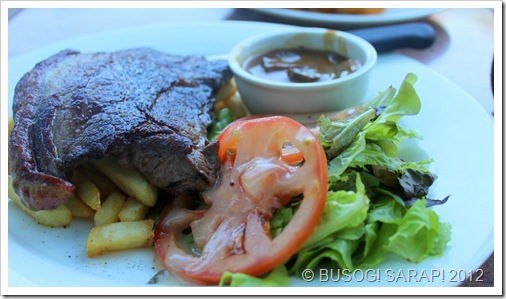 AQUA'S RUMP STEAK MEAL WITH MUSHROOM SAUCE© BUSOG! SARAP! 2012