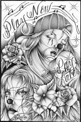 los homies coloring pages | Imagenes cholas joker - Imagui