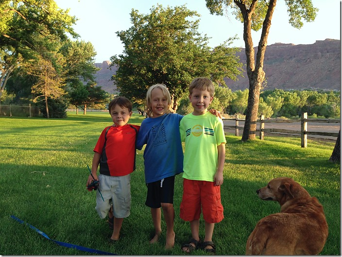 nolie and his buddies Ethan and Pierson