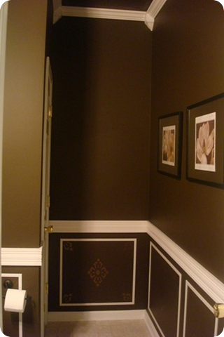 chocolate brown bathroom