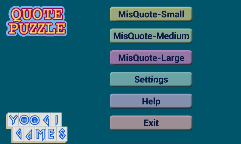 Quote Puzzle- screenshot