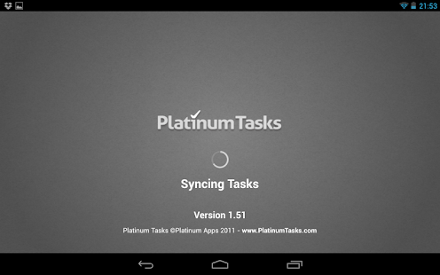 Platinum Tasks (To Do List)- screenshot thumbnail