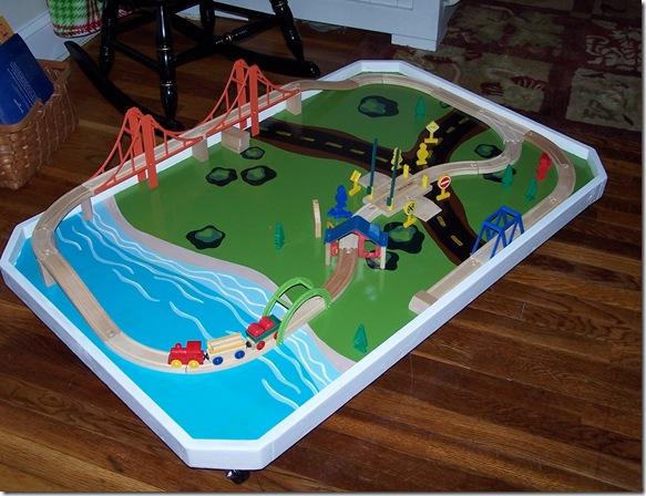 Christmas Crafting The Train Table A Handmade Childhood