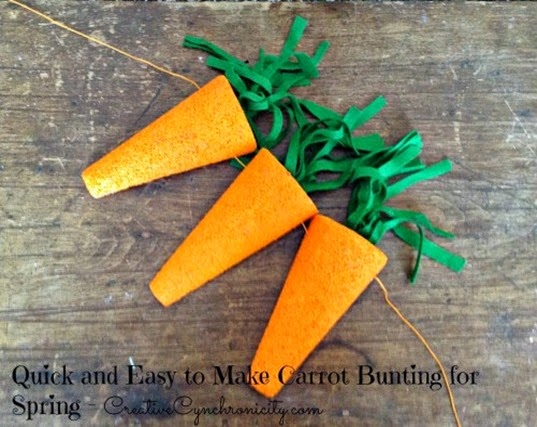 carrot bunting for spring