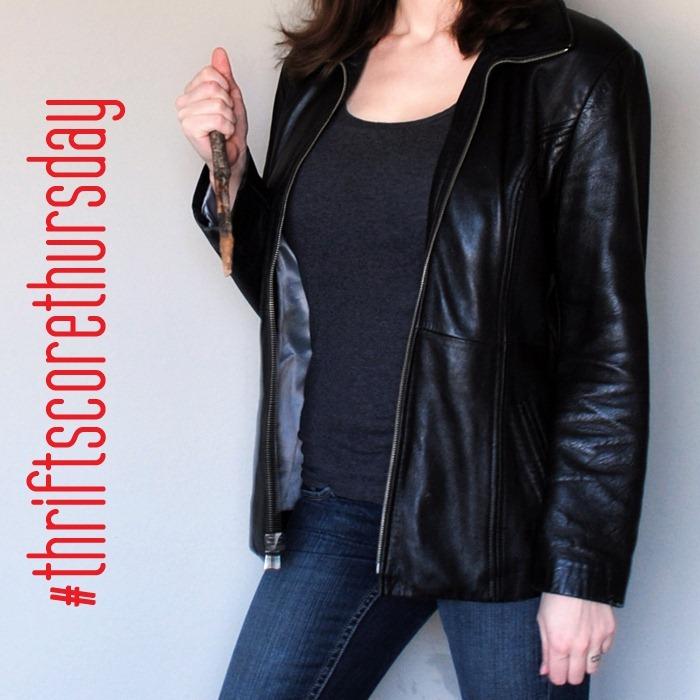 thriftscorethursday leather jacket