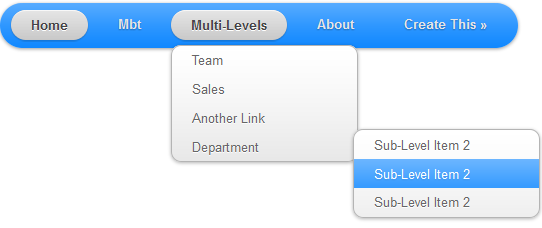Multi-level Drop Down Menu