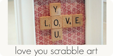love you scrabble art
