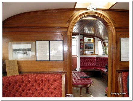 "Looking through both cabins of Steam Yacht ""Gondola"""