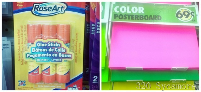 dollar store office supplies