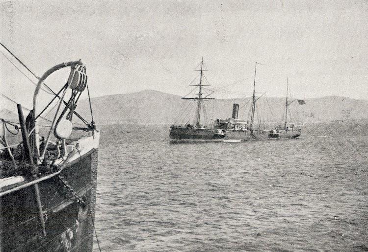 El CONDE DE VENADITO en la bahía de Santander. Del libro La España Marítima.JPG