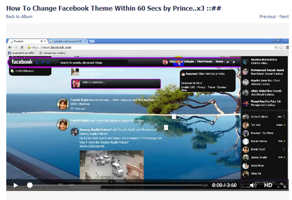 How To Change Facebook Theme Within 60 Seconds' is a spam