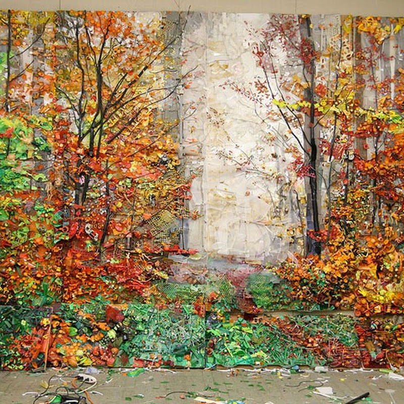 Painting Like Landscapes Created From Junk by Tom Deininger