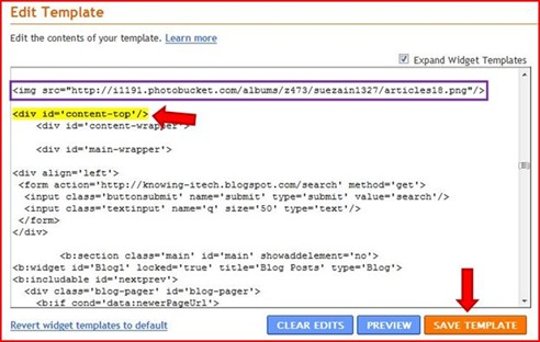How to add a blog button part 3 my technical knowledge for Template for blogger html code