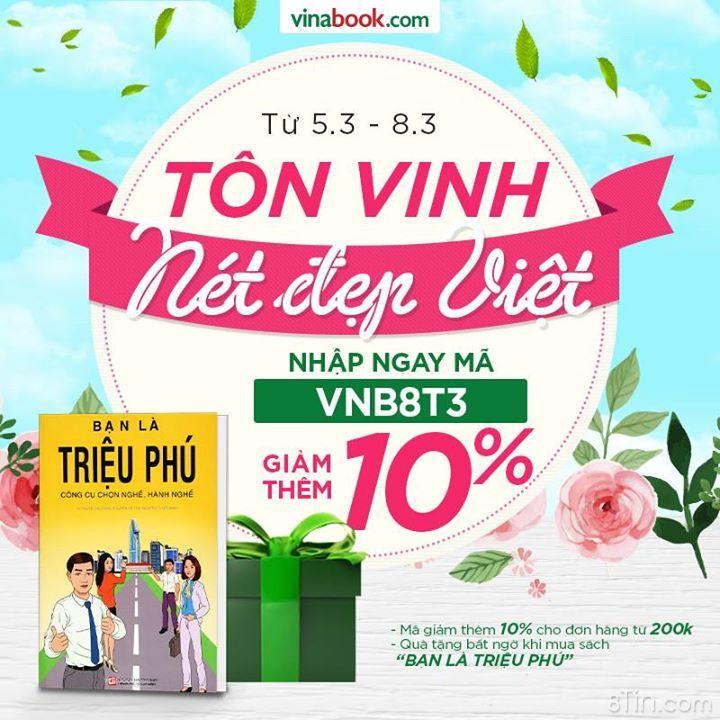 8/3 Tôn Vinh Nét Đẹp Việt Tặng mã giảm thêm 10% cho