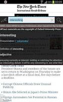Screenshot of QuickDict (overlay dictionary)