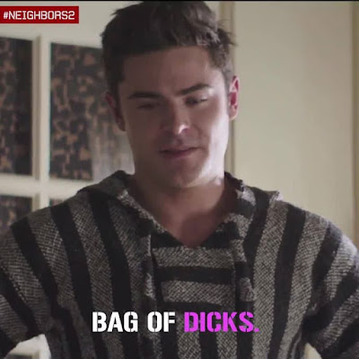 Correcting double standards one bag of dicks at a time Neighbors2