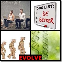 EVOLVE- 4 Pics 1 Word Answers 3 Letters
