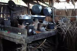 Gian bếp của ngoại