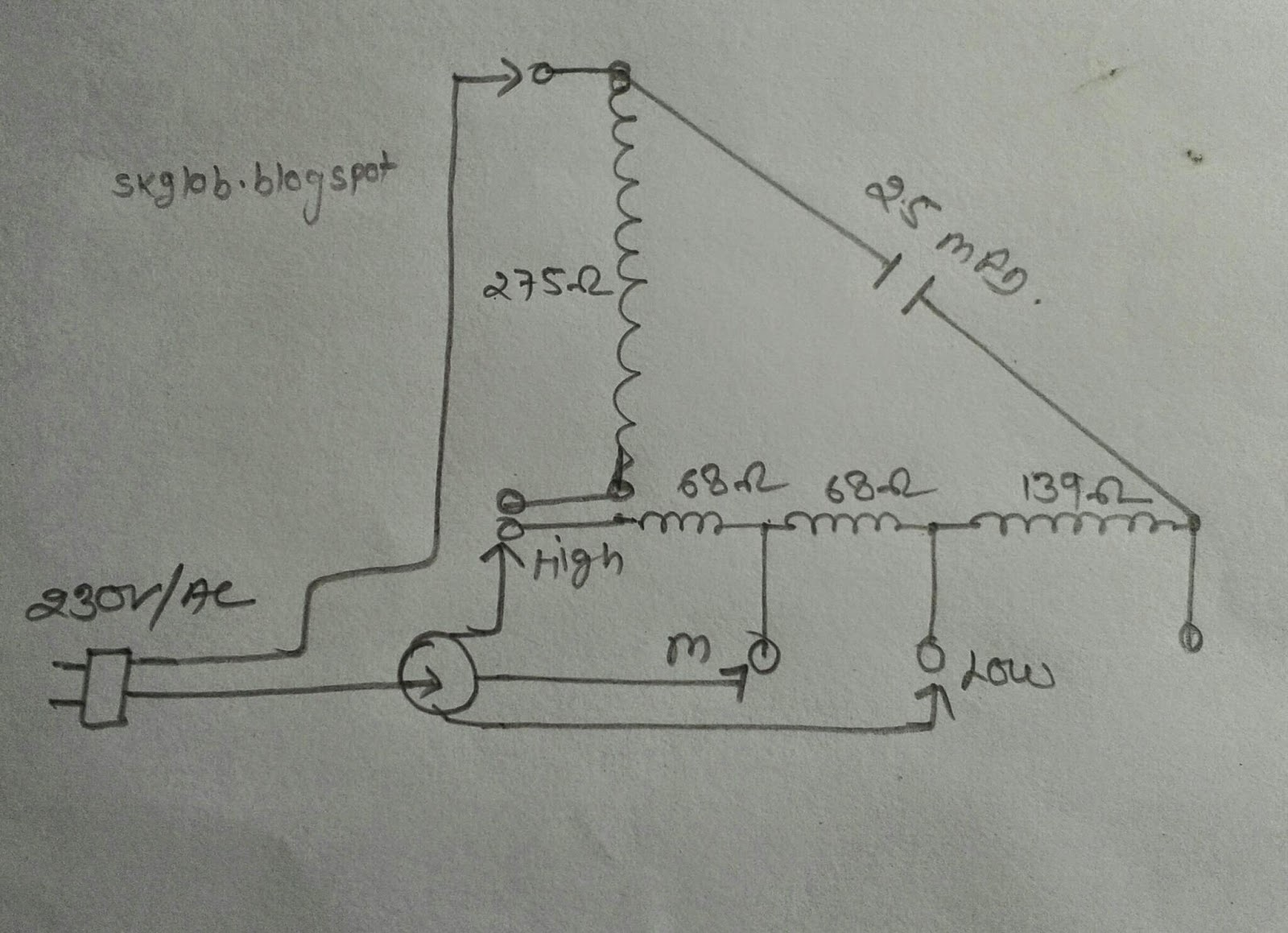 Evaporator Fan Wiring Diagram Library Ceiling Motor Electric Electronics Project Orient Wall Winding Data Ac Indoor