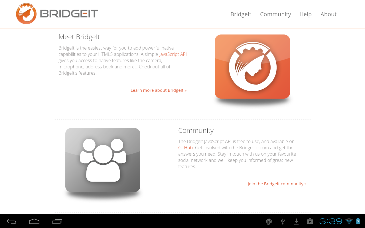 BridgeIt- screenshot