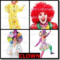 CLOWN- 4 Pics 1 Word Answers 3 Letters