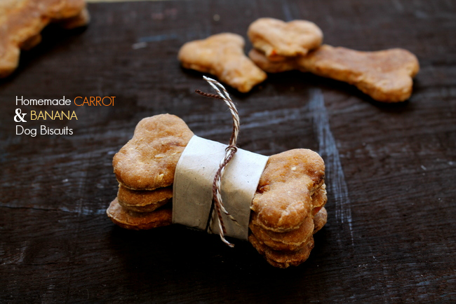 Homemade Carrot & Banana Dog Biscuits via homework (5)