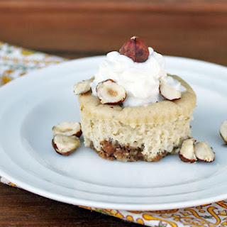 Mini Hazelnut Cheesecakes.