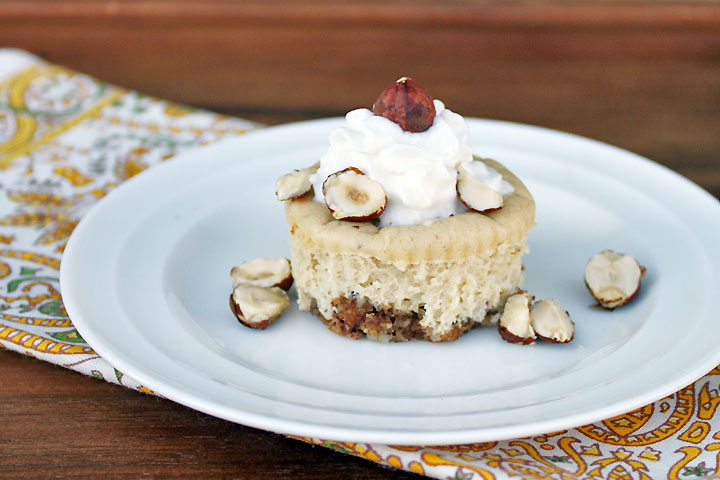 Mini Hazelnut Cheesecakes Recipe