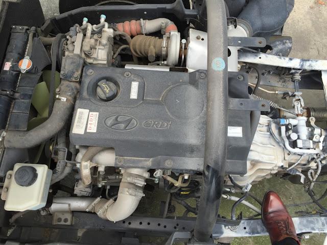 Động cơ xe tải Hyundai máy điện